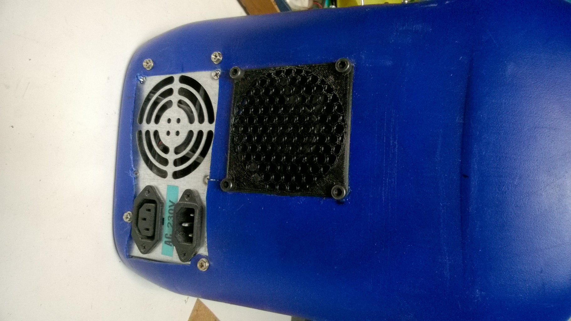 Fitting the Power Supply and Fan