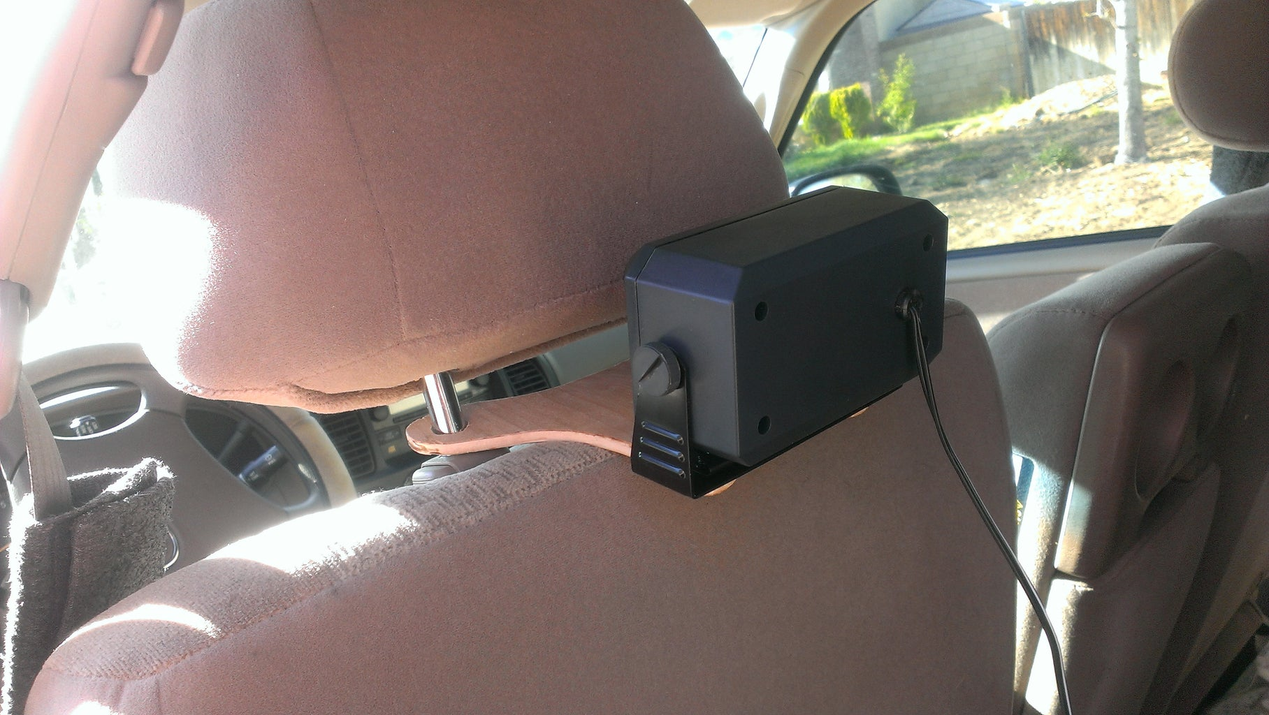 Head-rest Speaker Mount (for Ham, CB, or Scanner Radios)