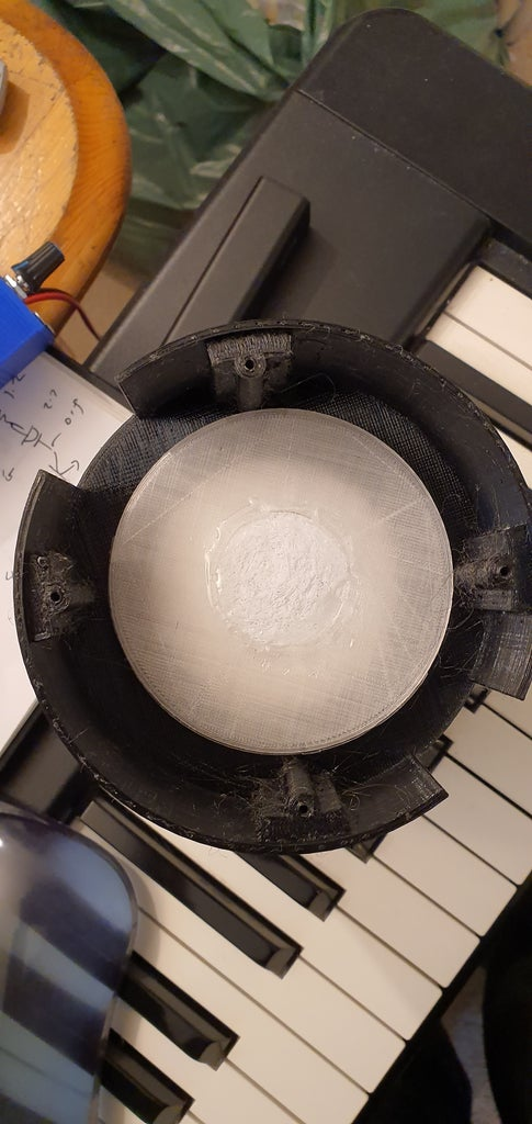 Glue the Moonlamp Plate to the Moon and Put It All Together