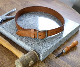 How to Make a Leather Belt - DIY