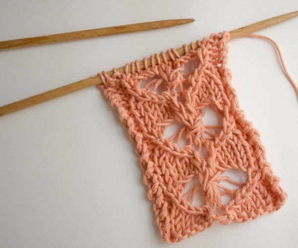 How to Knit a Border With Lace Hearts