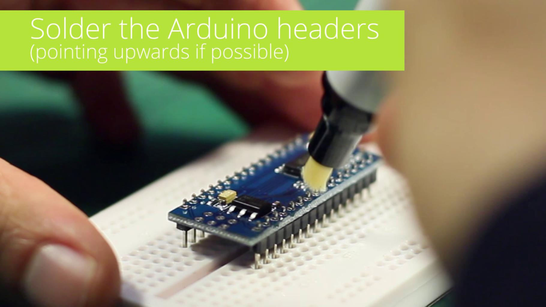 Solder Arduino Headers (upwards If Possible)