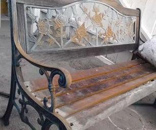 Restoring a garden bench