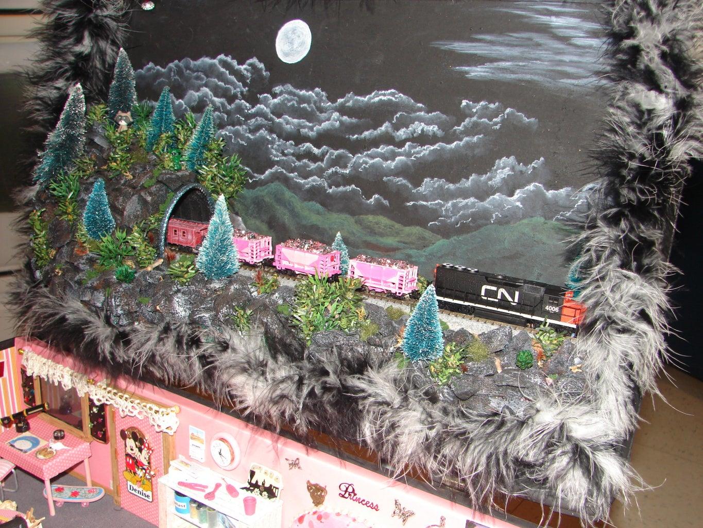 Locomotive and Cars.