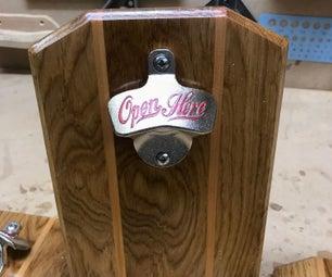 Beer Bottle Opener With Magnetic Top Catcher