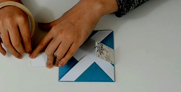 Take the Long Strip and Fold It Around the Card.