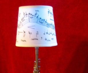 Blues Clarinet Lamp