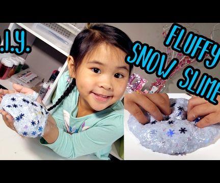 DIY Fluffy Slime - Frozen Themed