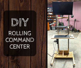 DIY Command Center - a Rolling Adjustable Height Desk on a Budget