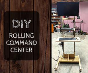 DIY指挥中心 - 预算上的滚动可调高度桌