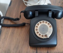 Retro Style Rotary Dial Mobile Phone
