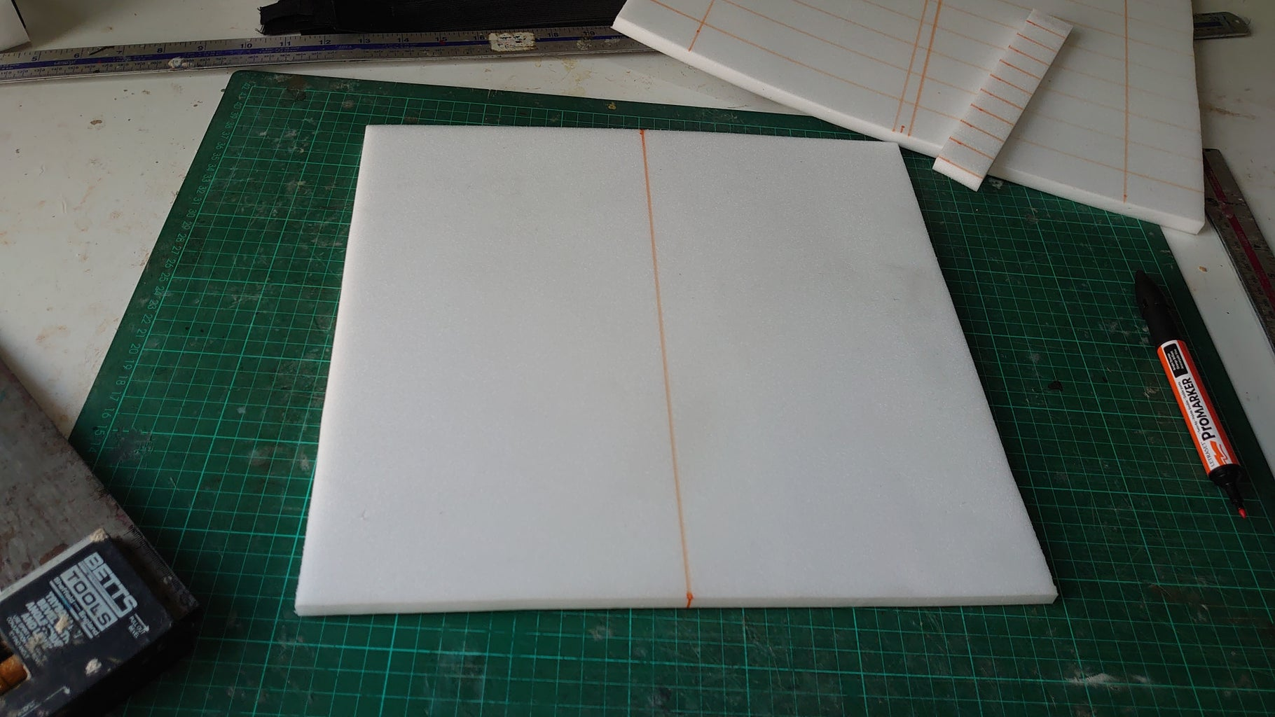 Cut and Mark Out the Foam.