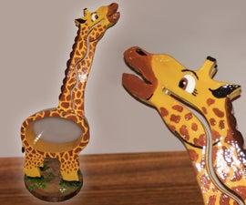 Giraffe Piggy Bank From Scrap Plywood