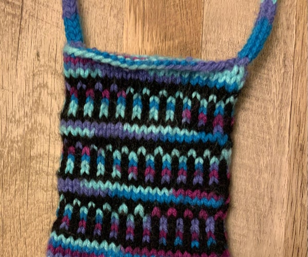 Easy Any-Gauge-Goes Knitted Colorwork Bag