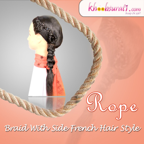Rope Braid With Side French Hair Style