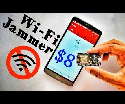 DIY Wifi Jammer With ESP8266 and Mobile App