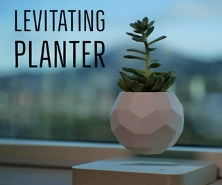 DIY Levitating Planter V2! - 3D Printed Version