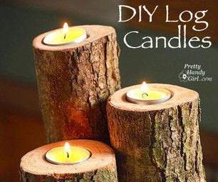 Fall Wooden Candle Holders