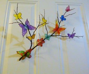 Recycled Butterfly Wall Art - 3D