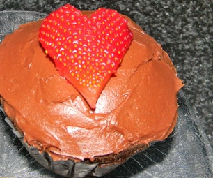 Strawberry Bomb Chocolate Cupcakes