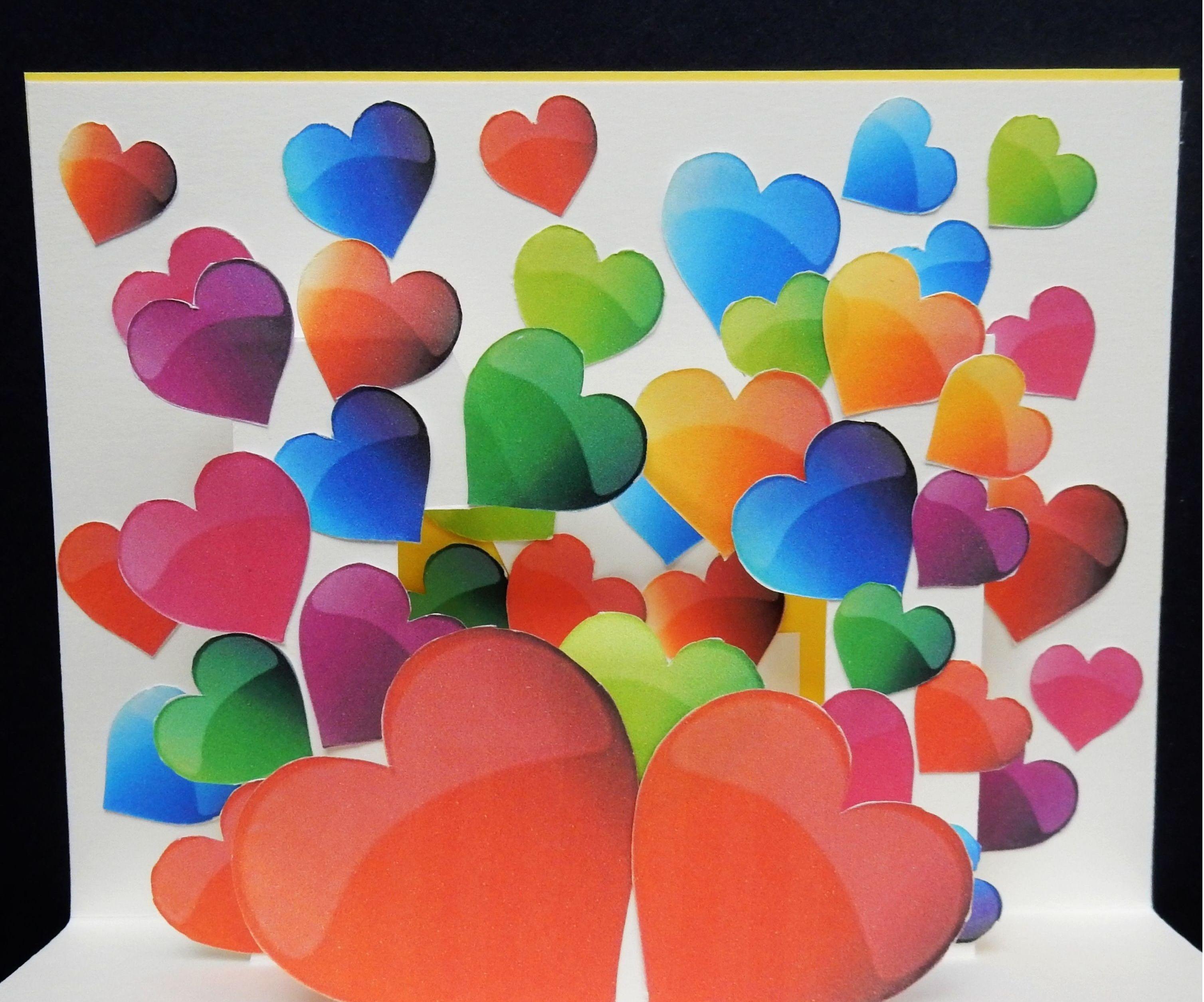 Pop up card (heart surprise)