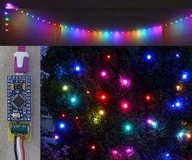 Magic Rainbow Xmas/Party Lights - NeoPixel, Arduino