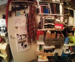 My brimming attic workspace