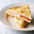 Quick way of making a cheese toastie