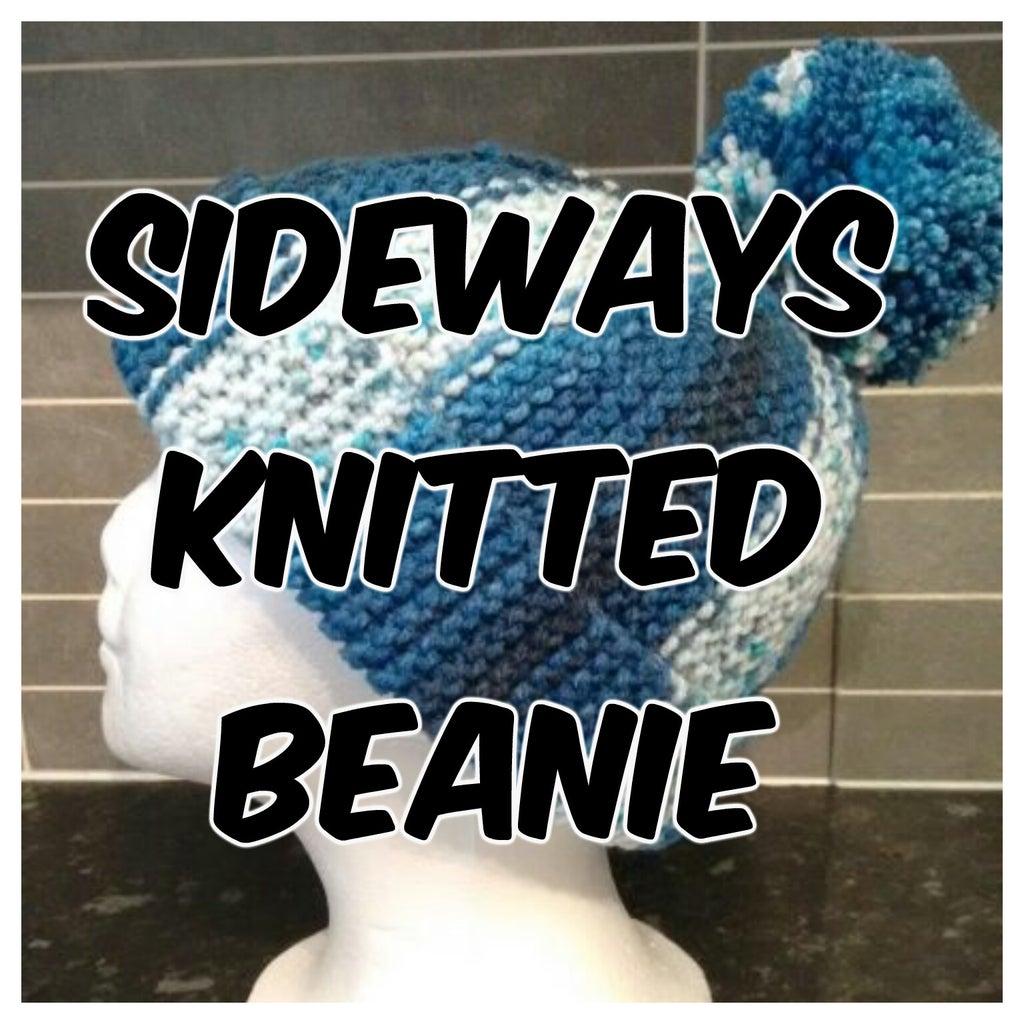 Sideways Knitted Beanie - Using Short Rows