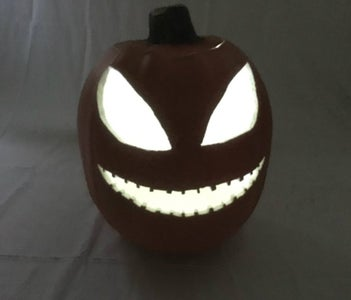 Carving Foam Pumpkins - Cleaning and Lighting