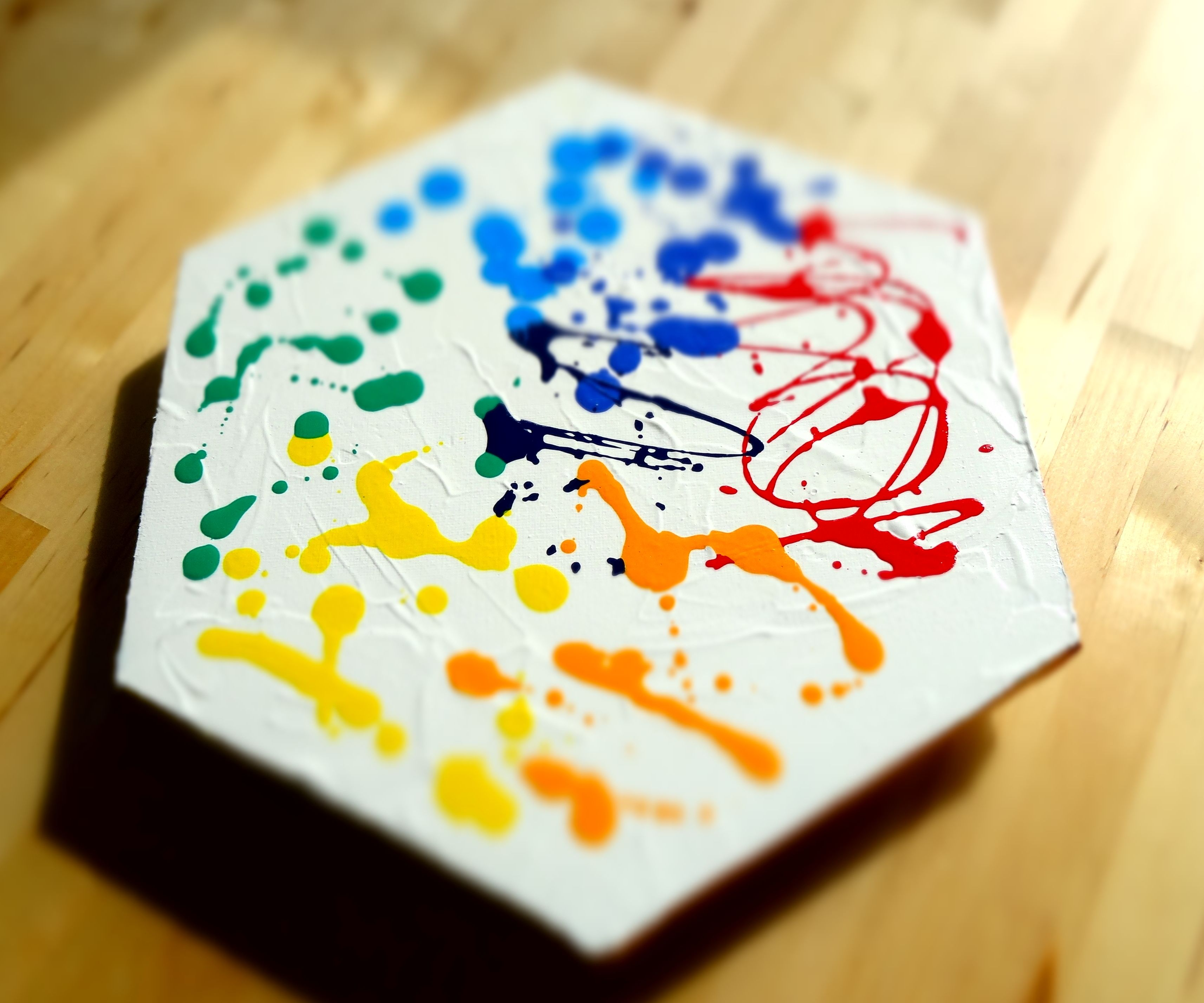 DIY Rainbow Canvas Pad -  How to Make Sound With a Rainbow Colored Canvas and Piezoelectric