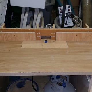 Simple Router Table From Reclaimed Desk