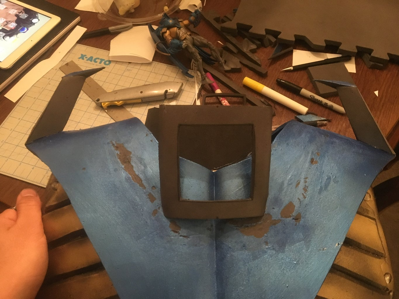 Chest Piece (part B), Fins, and Collar