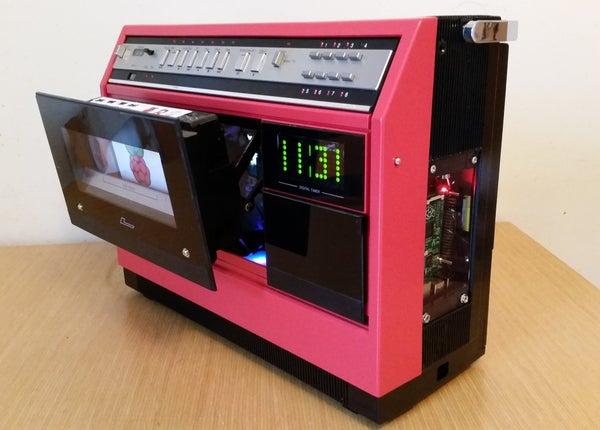 1981 Portable VCR Raspberry PI Media Centre