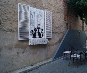 Tea House Wall Painting