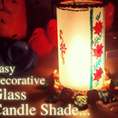 Easy Decorative Glass Candle Shade
