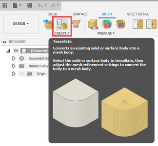 Convert Solid Body Into Mesh