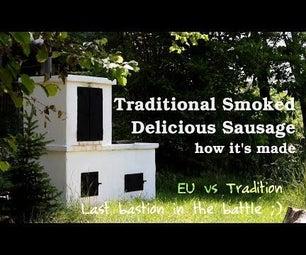 美味的传统关怀 - 熏制斯拉夫香肠