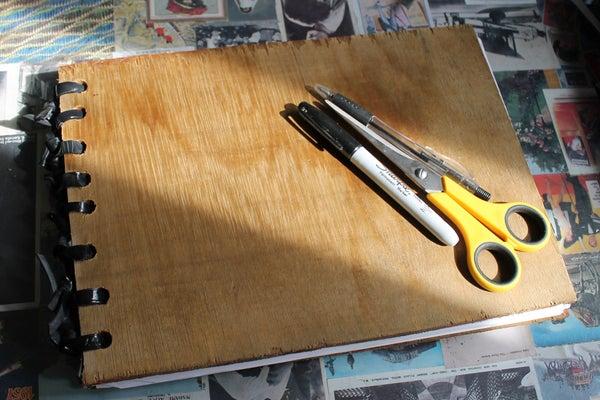 Sketchbook Made From Scrap Materials.