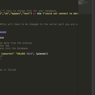 Interface Arduino to MySQL Using Python