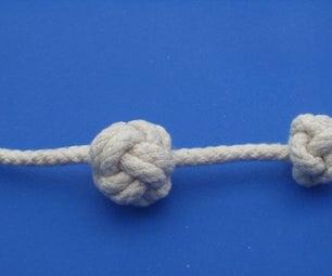 Wordless Tutorial III - Single Strand Diamond Stopper Knot