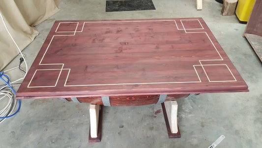 Pattern Routered Out on Table Top