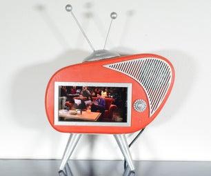 Retro TV Phone Holder With Speakers