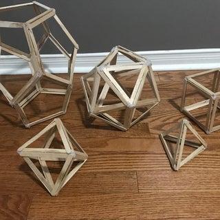 5 Platonic Solids Popsicle Sticks Models DIY