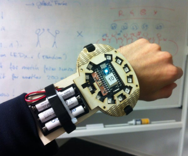 SparkTwister: a Wearable Game Using the Spark.io Spark Core