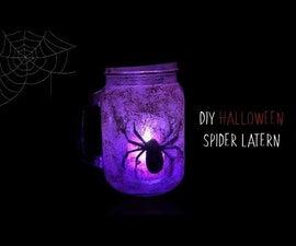 DIY Spooky Halloween Spider Lantern