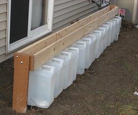 "Gutterless Rain Barrel - a ""Drain Barrel"""