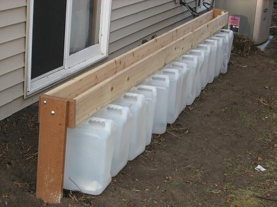 Gutterless Rain Barrel - a