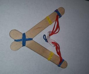 Easy Build Rubber Band Slingshot! No Adhesives!