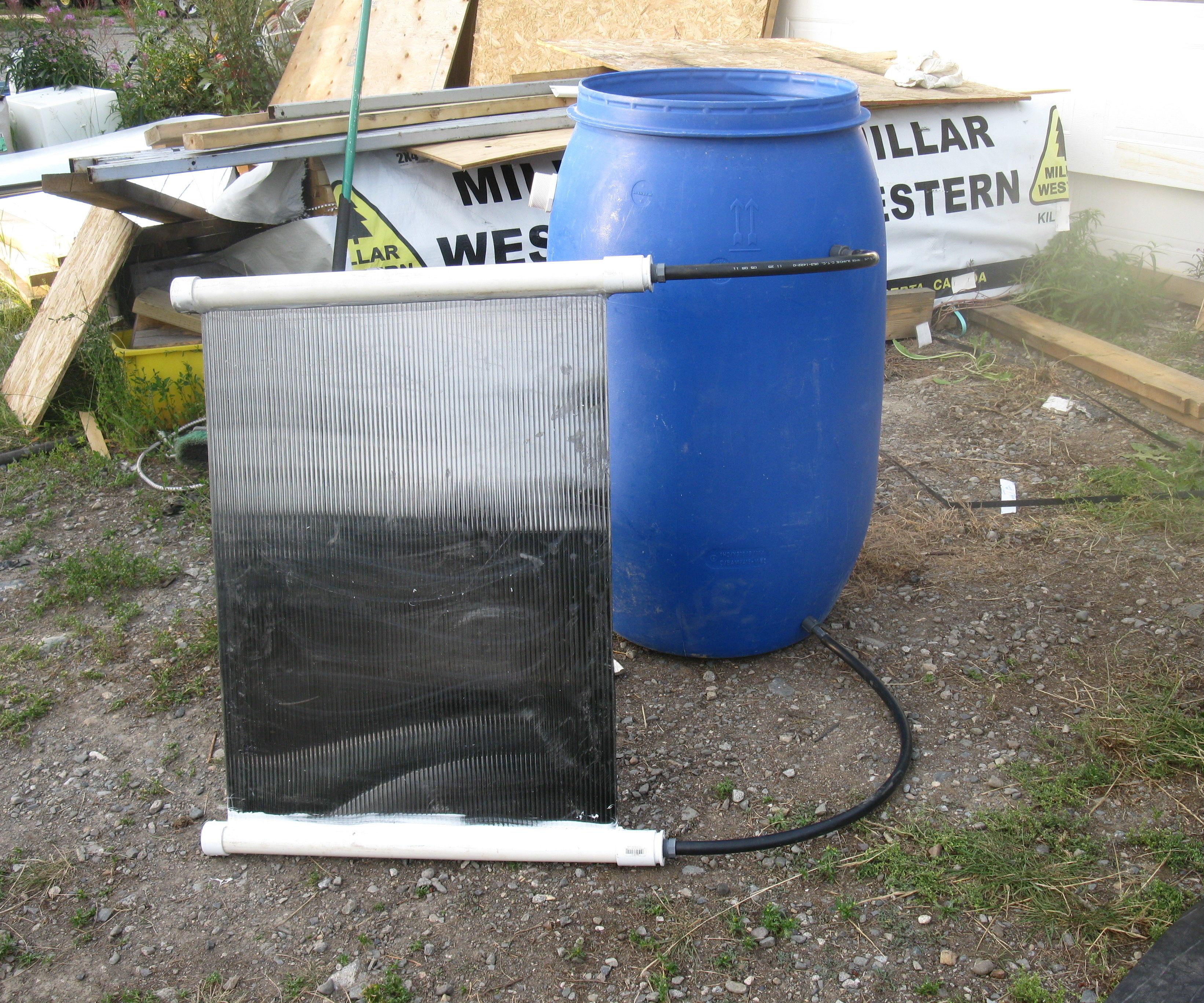 Passive Solar Water Heater